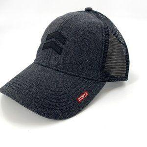 A KURTZ Charlie Trucker Baseball Cap Wool Hat Grey